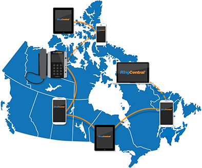 RingCentral Map - Canada